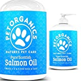 Paw Organics 100% Pure Natural Scottish Salmon Oil Dogs, Cats, Ferrets, Horses & Pets Omega 3, 6 & 9 Supplement Promotes Coat, Skin, Joint Brain Health
