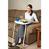 Beistelltisch, verstellbar, zusammenklappbar, für TV / Dinner / Laptop / Bett / Sofa / Schreibtisch