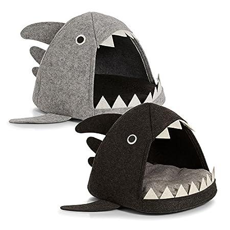 Zeller Katzen-Körbchen Hai, Filz Katzen-Korb, Filz