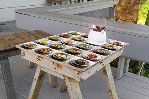 Wallario Aufkleber Selbstklebende Garten-Tisch-Decke - Italienische Pasta in 70 x 70 cm - Garten Pasta
