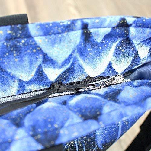 Shopper Reisetasche, Designertasche schwarz blau - 4
