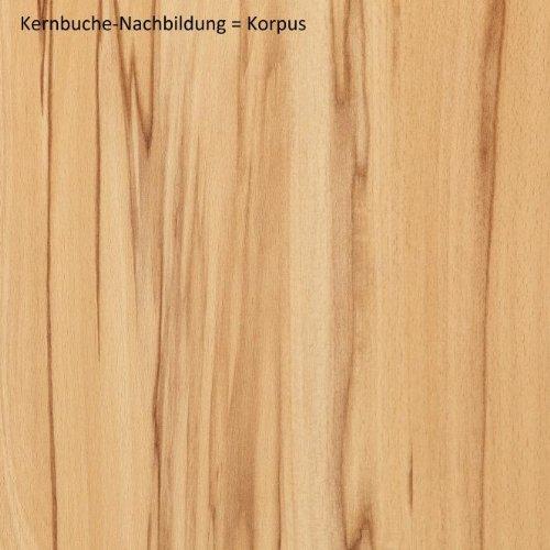 7-7-1444: made in BRD – schöne Wohnwand – Anbauwand – Kernbuche teilmassiv, geölt - 3