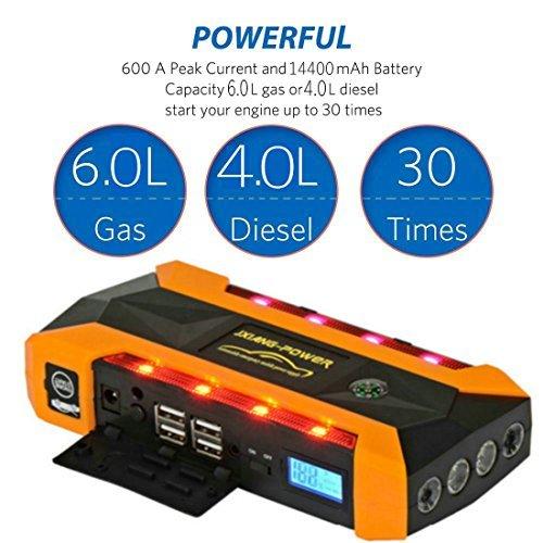 eletecpro car jump starter 14400mah 600a peak with led emergency rh tools salesavings co uk