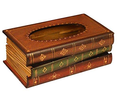 Tebery Kosmetiktücherbox aus Holz 10,2 cm H x 25,4 cm L x 14 cm W Taschentuchspender für handelsübliche Taschentücher aus natur Holz