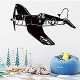HNXDP FIGHTER Vinyle stickers muraux Air Force pour Enfants décoration de la chambre Stickers Muraux Chambre Salon Décoration Murale déco XL 58cm X 36cm