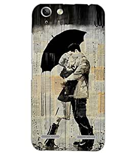 PrintDhaba LOVE COUPLE D-6686 Back Case Cover for LENOVO A6020a46 (Multi-Coloured)