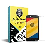 #3: Gorilla guard's Pro series tempered glass for Moto C Plus with HD+ ultra clear edge to edge 9H hardness, UV protect & anti-smudge technology TEMPERED glass phone protector