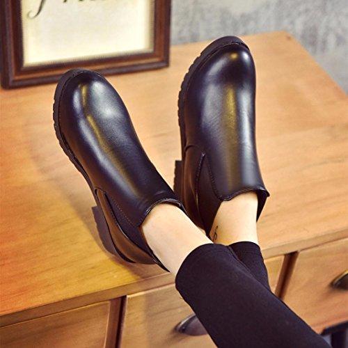 Stivaletti-Donna-2017-Vovotrade-Martin-Boots-Donne-Scarpe-basse-in-pelle-tacco-Chelsea
