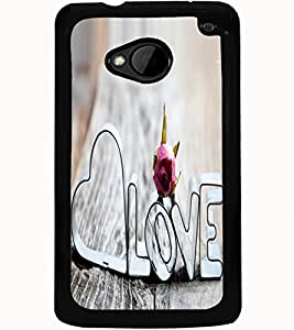 ColourCraft Love Quote Design Back Case Cover for HTC ONE M7
