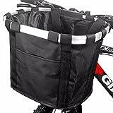 Fahrradtaschen am Lenker für Mountainbike MTB Frontrahmen Tube Lenker Bike Basket Unisex Fahrradtasche, ANZOME faltbares abnehmbares Haustier-kleines Tier-Hundekatze-Kaninchen-Reise-Einkaufen