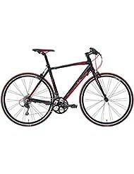 'Bicicleta Híbrida Cicli Adriatica Tiger RS de hombre con marco de aluminio, ruedas de 28, Shimano 24 velocidades, negro