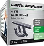 Rameder Komplettsatz, Anhängerkupplung abnehmbar + 13pol Elektrik für VW CADDY III Kombi (143345-05084-1)