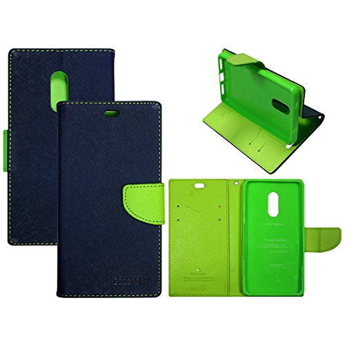 Casotec Goospery Fancy Diary Wallet Flip Case Cover for Xiaomi Redmi Note 4 - Blue / Green  available at amazon for Rs.399