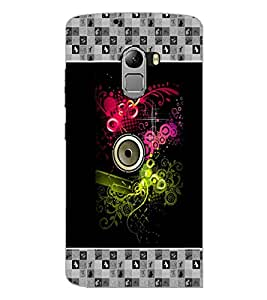 PrintDhaba Abstract Design D-5726 Back Case Cover for LENOVO VIBE K4 NOTE (Multi-Coloured)