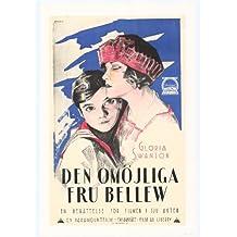 La Imposible la Señora Bellew Póster de película sueco B 11x 17en–28cm x 44cm Gloria Swanson Robert Cain Conrad Nagel Richard Wayne Frank Elliott Gertrude Astor
