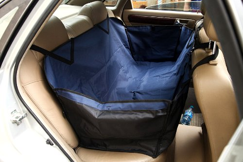Valentina Valentti Car Dog Seat Cover Pet Waterproof Protective Cover Hammock Navy Blue