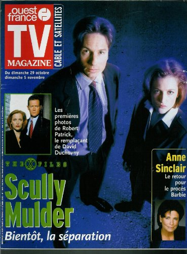 TV Magazine Ouest-France - n°17029 - 27/10/2000 - The X Files, David Duchovny, Anne Sinclair