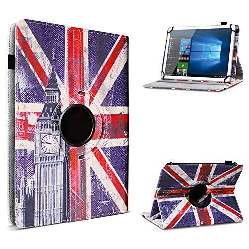 UC-Express Tablet Schutzhülle für 10-10.1 Zoll Tasche aus hochwertigem Kunstleder Standfunktion 360° Drehbar Universal Case Cover, Farben:Motiv 10, Tablet Modell für:Acepad A96