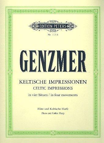 Keltische Impressionen in Vier Saetzen. Flöte, Harfe
