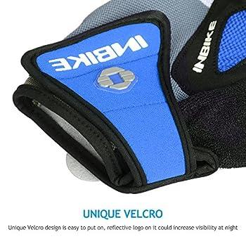 Inbike 5mm Gel Padded Half Finger Cycling Gloves Bike Bicycle Gloves For Biking(blue,m) 4