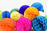 "SUNBEAUTY 2"" Pack of 30 Minil Honeycomb Balls Assorted Colors Decorative Tissue Paper Wedding Baby Shower Decoration"