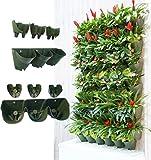 Worth Garden Selbstbewässernde senkrechte Garteneinpflanzer, Grünende Wand Blumentopf, hängende Pflanzentöpfe mit 3-Taschen und 3 Stück Filterlagen, perfekt für Innen und Außen-Dekor oder Pflanzenwuchs