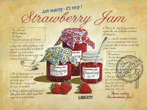 Martin Wiscombe 20x 15cm–Jam Making Plaque Schi ldim style vintage