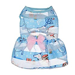 sunnymi Fashion Cute Little Solid Pet Dog Clothing Lovely Small Puppy Pet Dog Cat Classic Clothes Costume Apparel For Walking Jogging Colorful Princess Dress