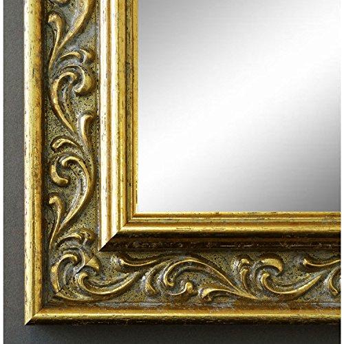 Espejo de pared Espejo Baño piso Espejo perchero Espejo–más de 200tamaños–Verona 558p de oro oro 4,4, Medida exterior, dorado, 9 x 13