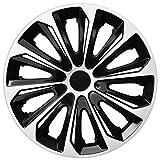 Radkappen / 4 x Universal Radzierblenden - STRONG DUOCOLOR schwarz und weiß (16