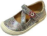 Filii Barefoot - Pantofole a Mezzaluna con Brillantini, Modello Anna, in Pelle, Argento (Silber Glitzer), 22 EU