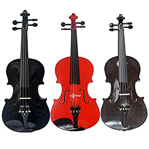 Student Violin by Zest in amazing metallic colours 4/4 and 3/4 Sizes Violin Only