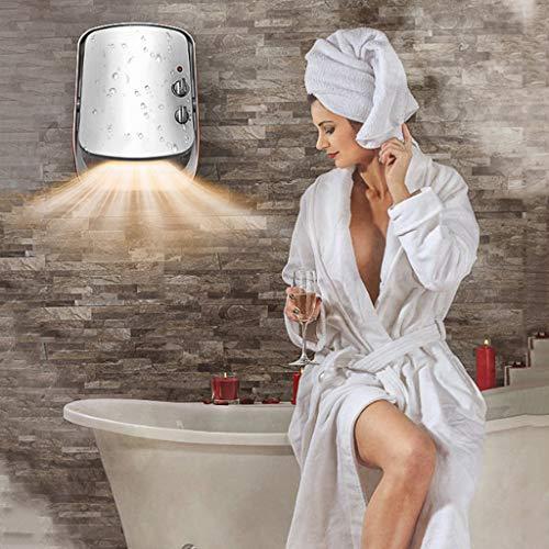 AZBYC Wall-mounted Fan Heater,electric Heater For Home 800/1200/2000W Waterproof Fan Heater, White Img 3 Zoom