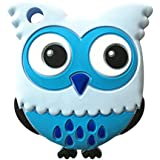 Leoie Baby Cute Cartoon Animal Teether Toys Vivid Color Educational Toy Gifts For Baby Owl Blue