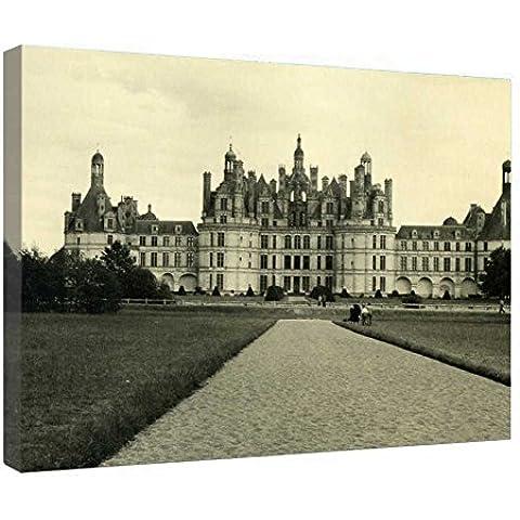 LeeQueen Las Impresiones Sobre Lona Arte de la Pared - Castillo de Chambord en 1954 - Antecedentes Consejo de Madera Estirada Abrigo de la Lona Listo Para Colgar Para el Hogar y la Decoración de la Oficina - 24