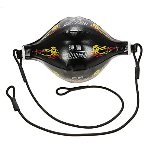nd Boxing Speed Ball Boxsack Birne Aufblasbare Box Ausrüstung Bodybuilding Fitness SpeedBalls mit einem Ventilkern ( Color : Black ) (Aufblasbarer Boxsack Für Erwachsene)