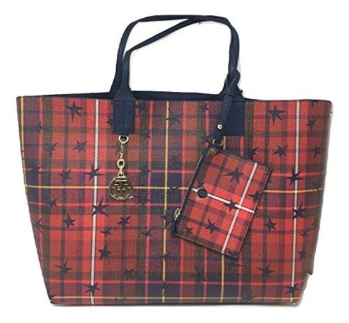 Tommy Hilfiger Reversible WOMEN'S BAG | DAMEN Handtasche, Monogram TOTE (Damen Reversible Handtasche)