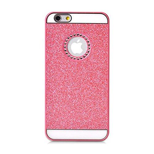 Coque Iphone 6/6S, XIAN en cristal de luxe Bling Glitter YiFeng Coque arrière pour Apple iPhone, plastique, rose, iPhone 6 / 6s