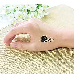 Idea Regalo - BHTWS 2Pc Tattoo Sticker per Body Art Rose trasferibili Tatuaggio Adesivi per DonnaDito Tatuaggio temporaneo Piccole voglie Copertura Cicatrice