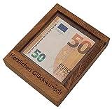 ROMBOL Pfiffiger Geldschein-Tresor - Originelle Verpackung für Geldgeschenke in Form eines Geduldsspiels , Modell:1