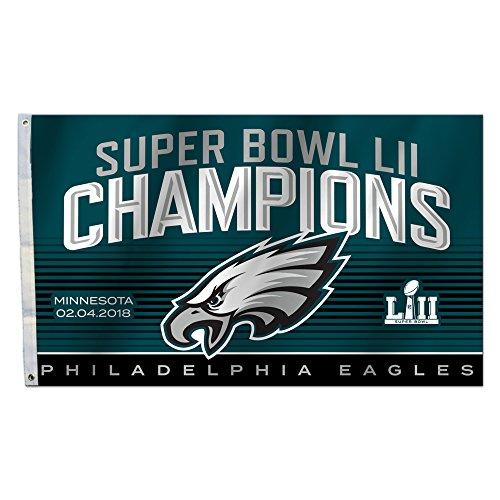 Fremont Die NFL Philadelphia Eagles Super Bowl 52Champions 3x 5-Foot Flagge Champions Auto-magnet