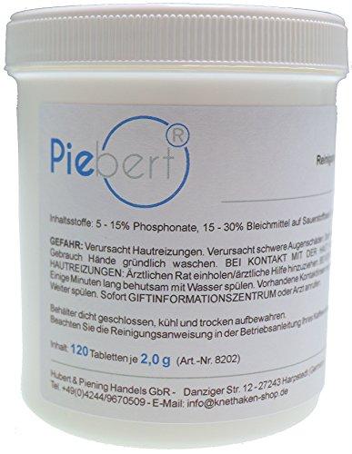 120 pastillas de limpieza para cafeteras | por ejemplo Ley, Siemens EQ, Bosch Vero | Práctica lata, tabletas removedoras de grasa de café cada Ø15mm 2g