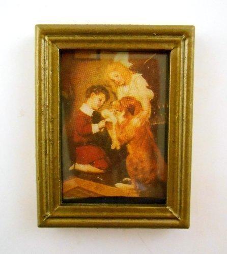 Puppen Haus Miniatur Accessoire Bild Malerei Viktorianisches Kind Und - Malerei Viktorianische