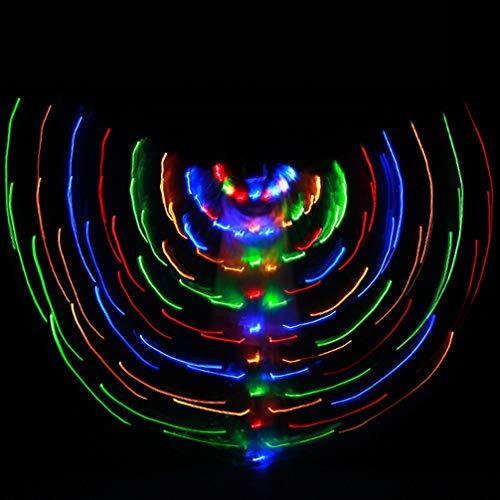 Rongg Kinder LED Tanz Flügel Leuchtende Flügel Tanz Leistung Leuchtflügel Mehr Farbe, White, One Size