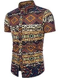 Camisas Slim con Estampado De Floral Hombre LHWY a51a41553bd2a