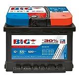 BIG +30% Silber Ca 12 V / 55 Ah - 500 A/EN Autobatterie