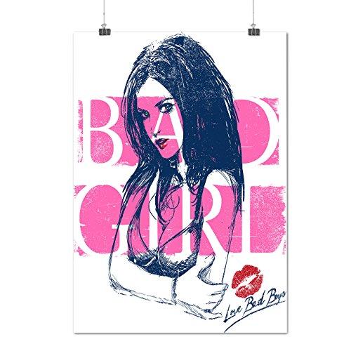 Schlecht Mädchen Heiß Nackt Sexy Junge Glanz Mattes/Glänzende Plakat A1 (84cm x 60cm) | (Brennen Jungen Kostüm Für)