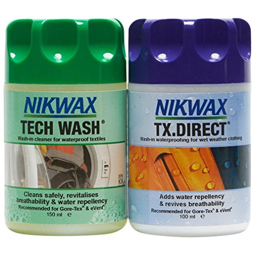 Nikwax Tech Wash and TX. Direct Wash-In Twin Pack