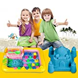 #7: celebrationgift Magic Sand Activity Play set with Inflatable Sandbox and Molds, 2kg (Assorted Colour)