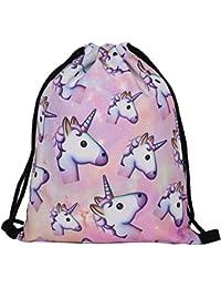 Susi 26Rita Susi&Rita Gym Drawstring Bags Sport Yoga School Backpack 3D Design (Unicorn)